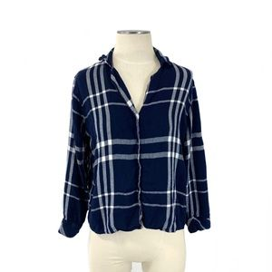 Rails- Cadet White Plaid Pajama Top Size Small